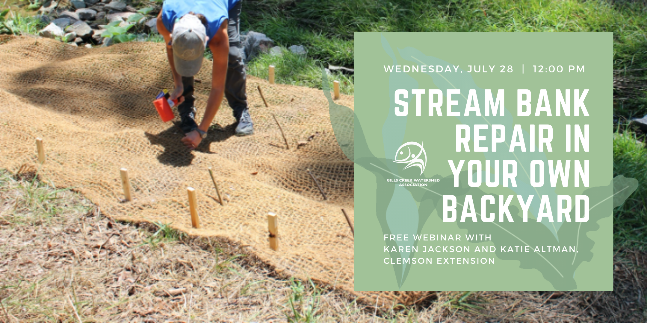 Webinar: Stream Bank Repair in Your Own Backyard