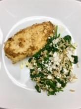 Herb chicken and Greek rice