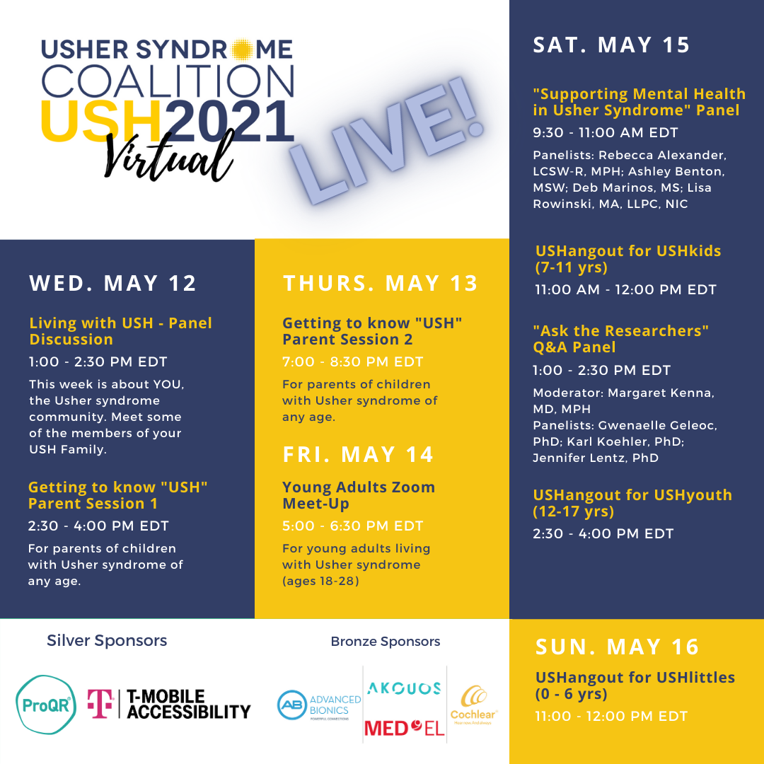 USH2021 Live Sessions - Schedule at a Glance