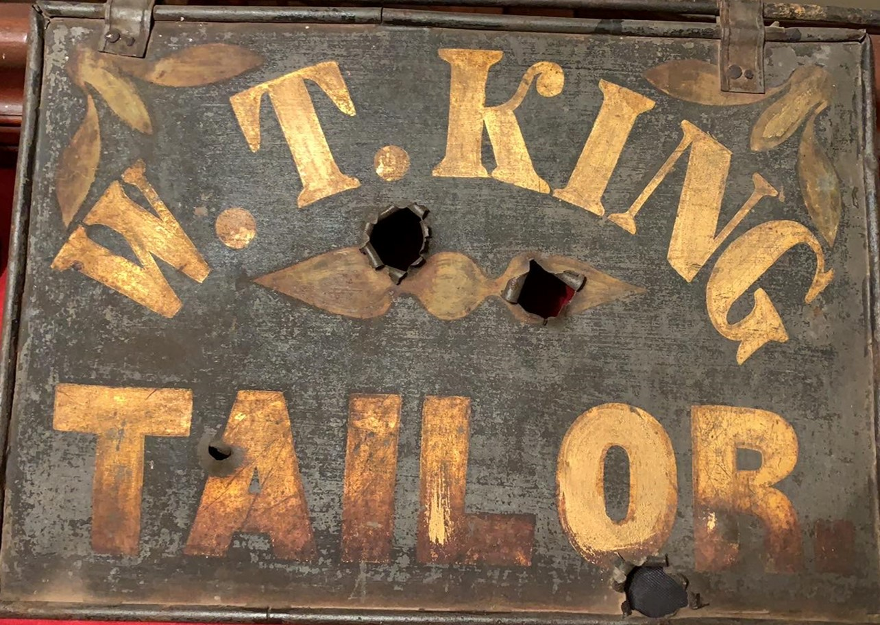 William T. King's Tailor Shop Sign