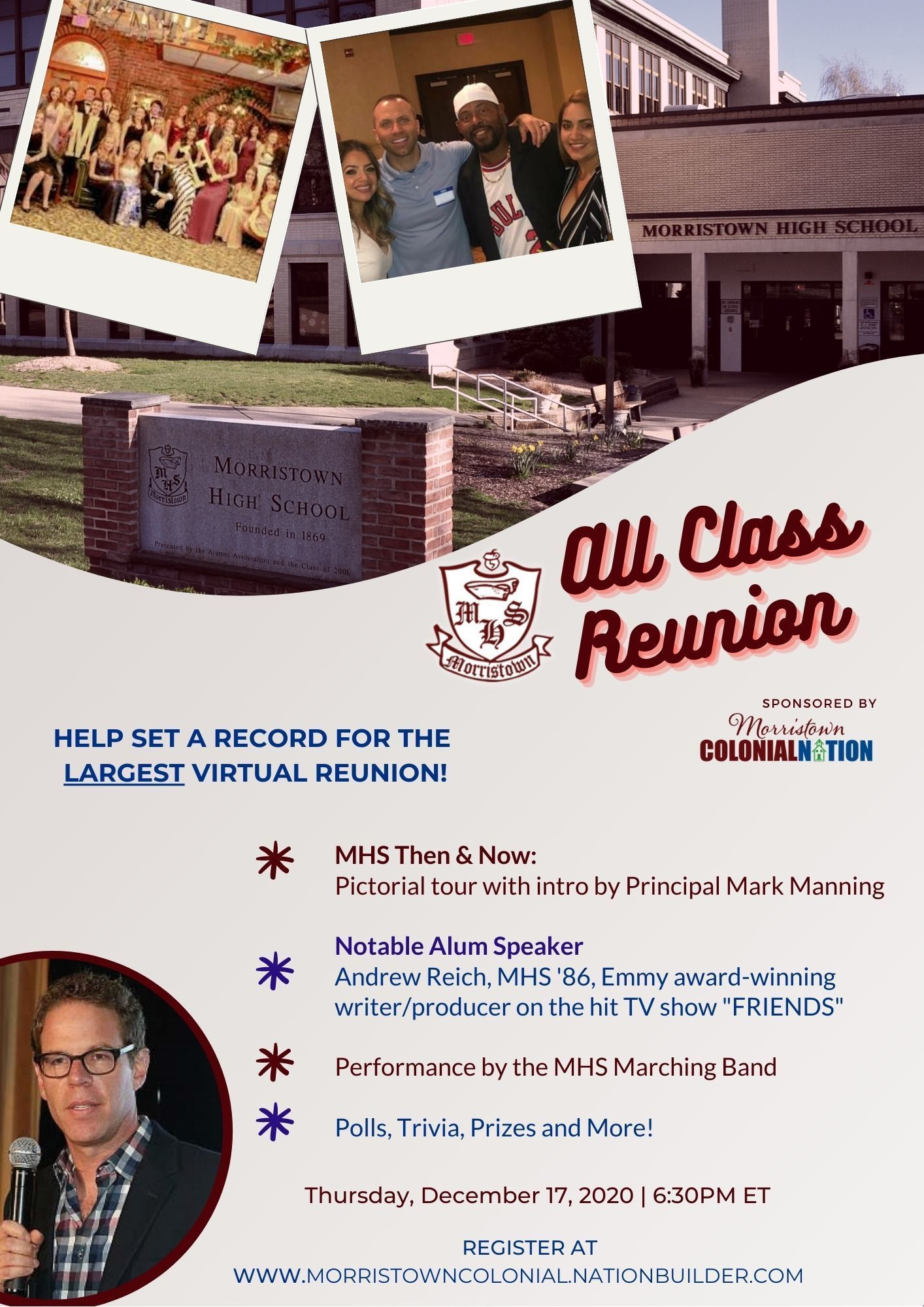 Register for the first-ever Virtual MHS All Class Reunion