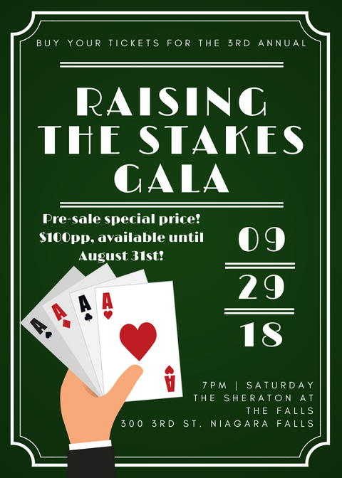 Tickets available for the Raising the Stakes Gala