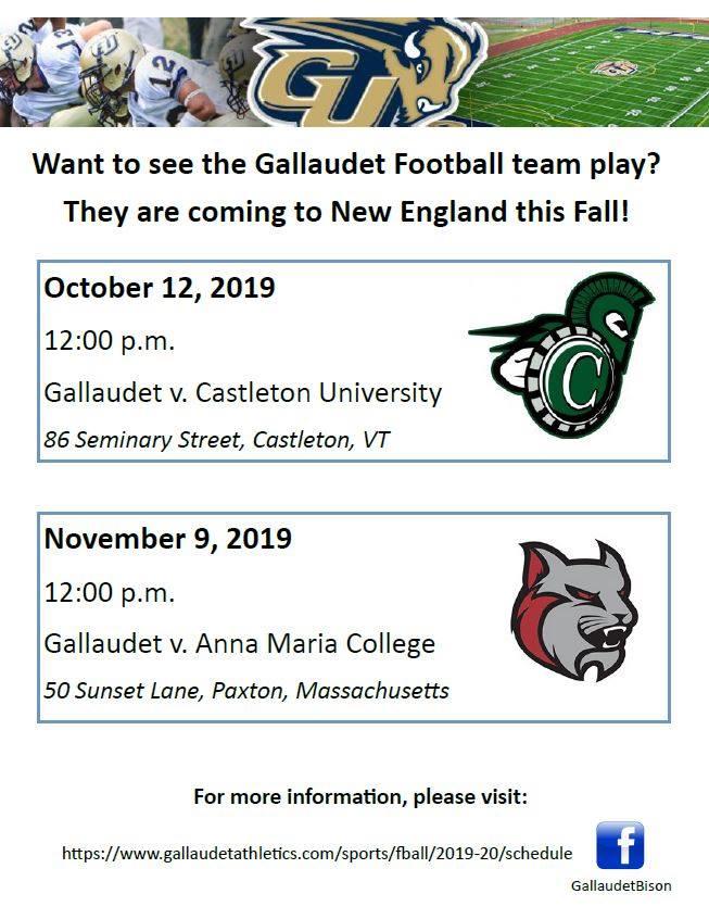 Gallaudet Football vs. Anna Maria College