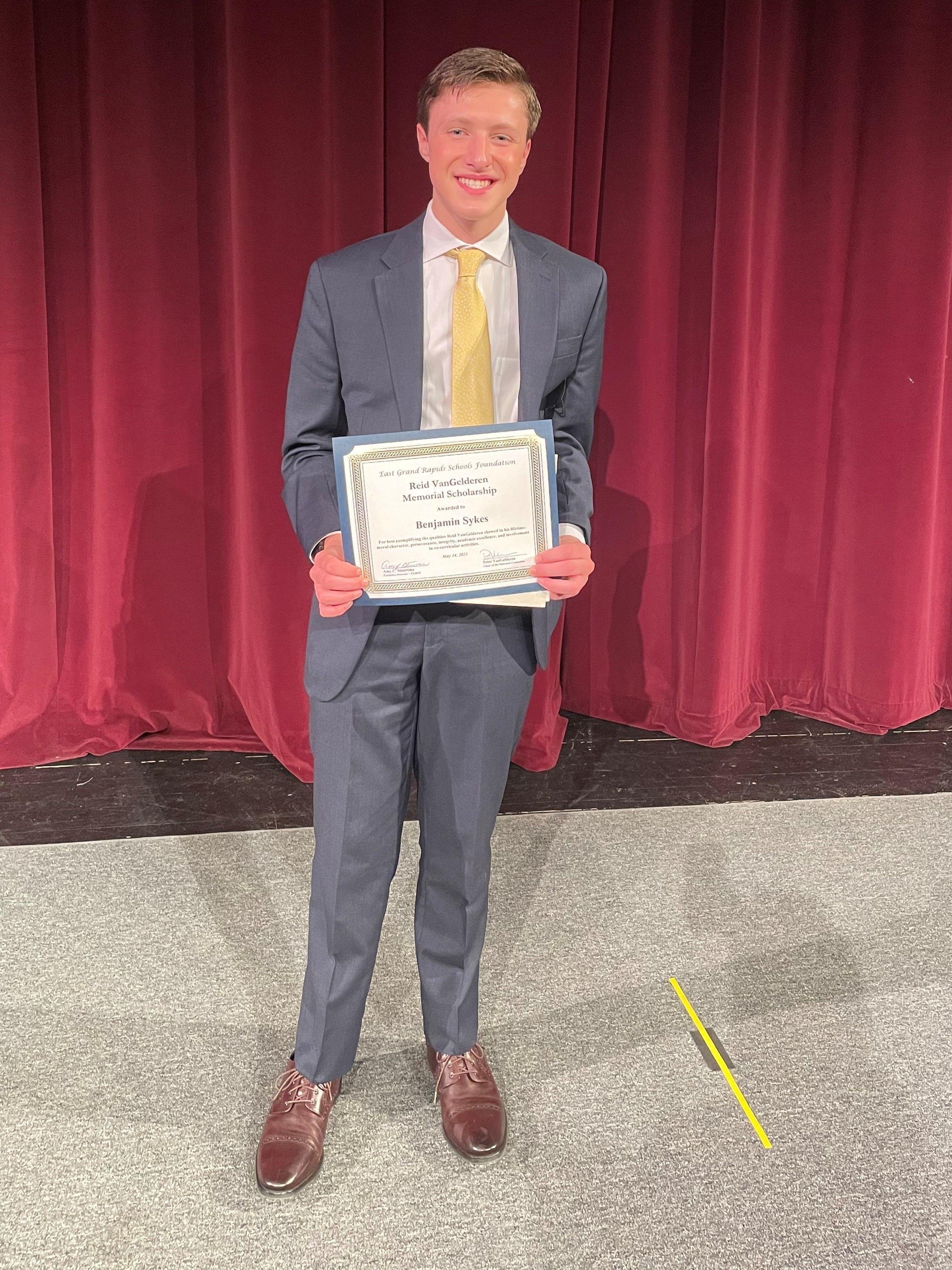 Ben Sykes - Reid VanGelderen Memorial Scholarship