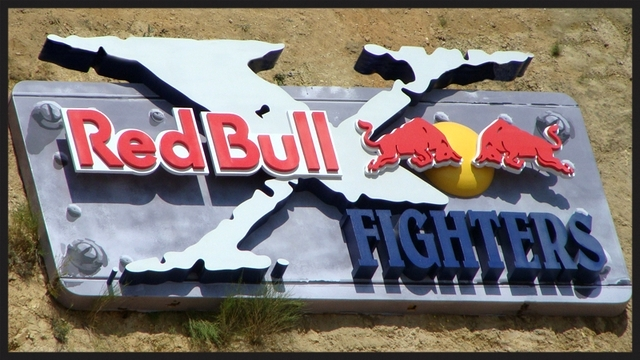 S28000- Large  (20ft) 3-D Multi-layer Red Bull Motocross Event Sign