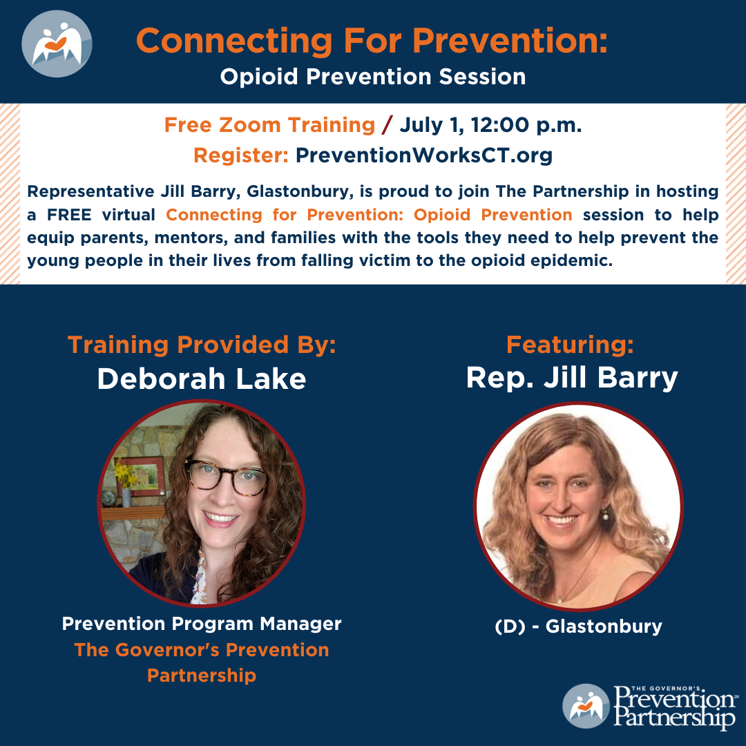 Connecting for Prevention with Representative Jill Barry