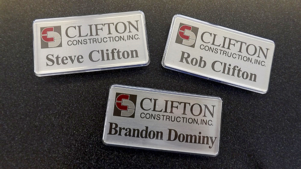Clifton Construction Nametags