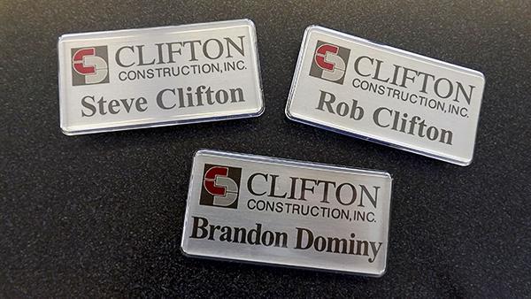Clifton Construction Nametags