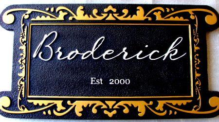 I18126 - Elegant Carved Property Name Plaque