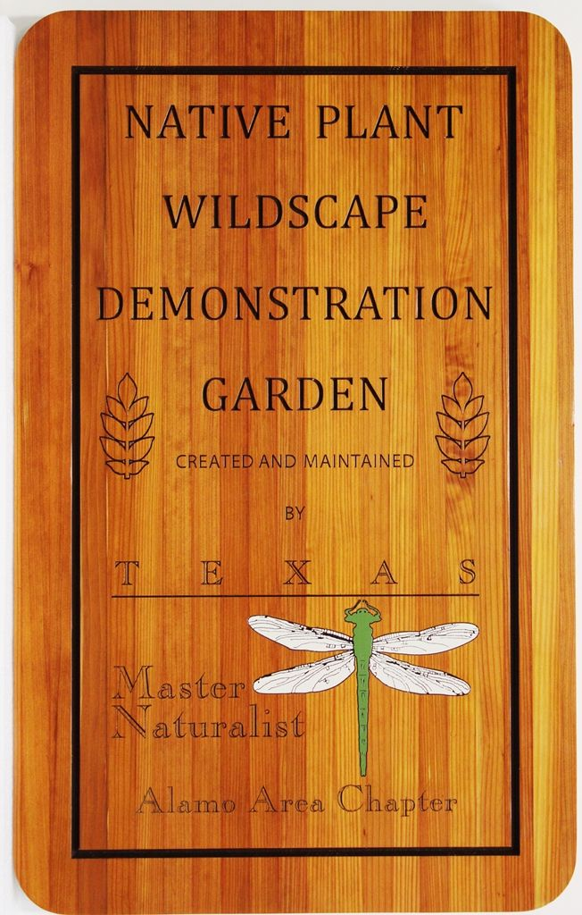 GA16530 - Engraved  Natural Cedar Wood Sign for the Native Plant Wildscape  Demonstration Garden