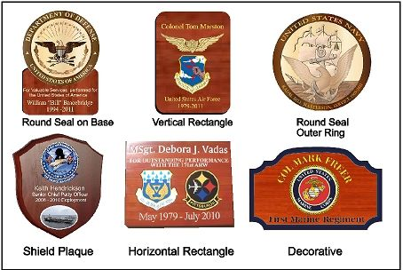 Wood Plaques for Federal Government Awards and Recognition