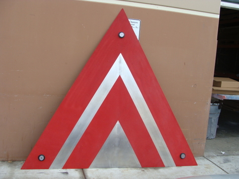 V31790 - Aluminum Range Marker for Artillery, NTS at Ft.Irwin
