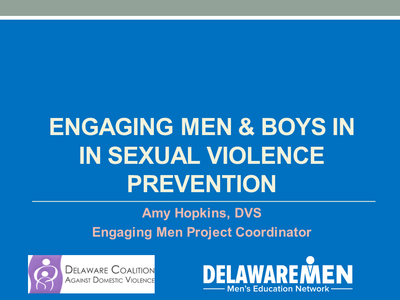 Engaging Boys and Men in Sexual Violence Prevention