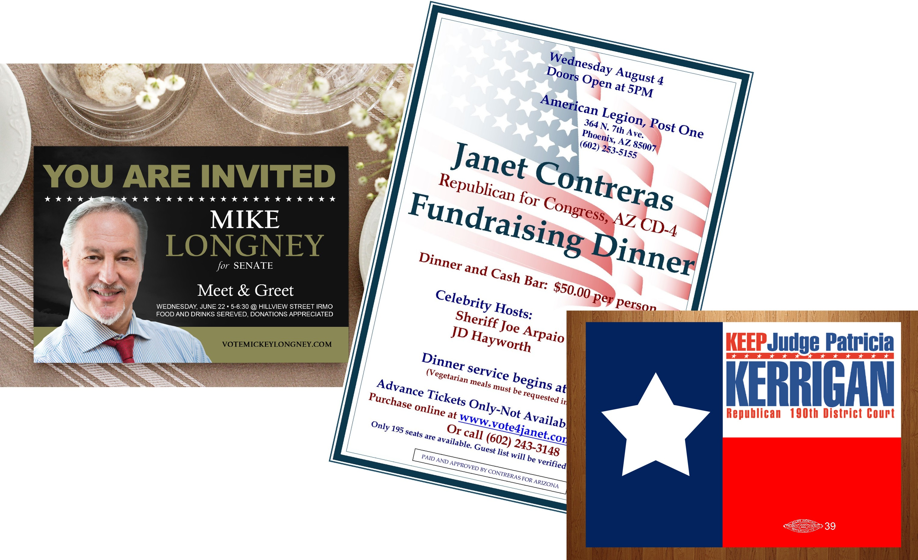 Political | Union | Fundraiser | Invitations | Printing | Pittsburgh