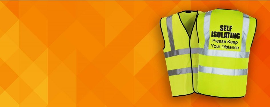 High Visibility Self-Isolating Awareness Vests