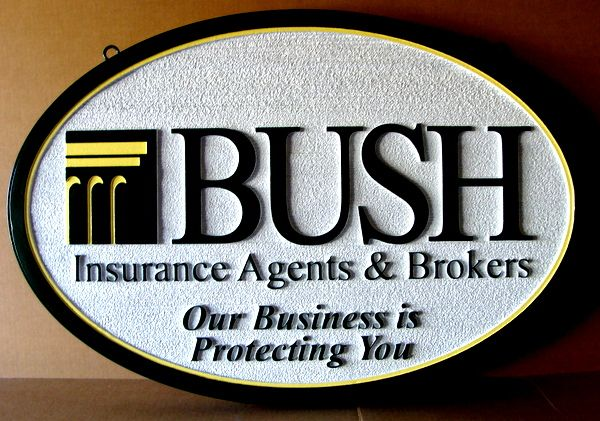 C12506 - Carved and Sandblasted Insurance Agents and Brokers Sign