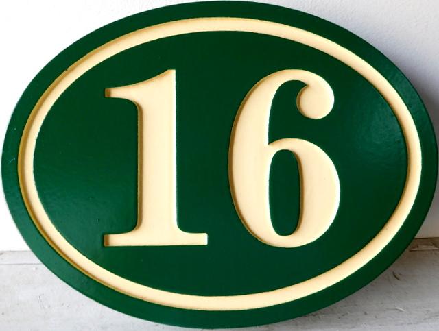 I18839 - Engraved Address Number Plaque