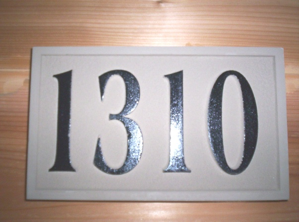 KA20888 - Carved HDU Residence Street Address Number Sign
