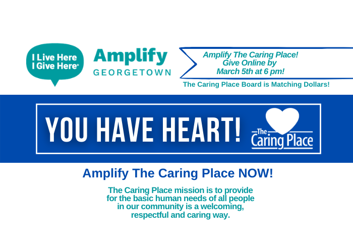 Amplify The Caring Place simply by scheduling a donation!