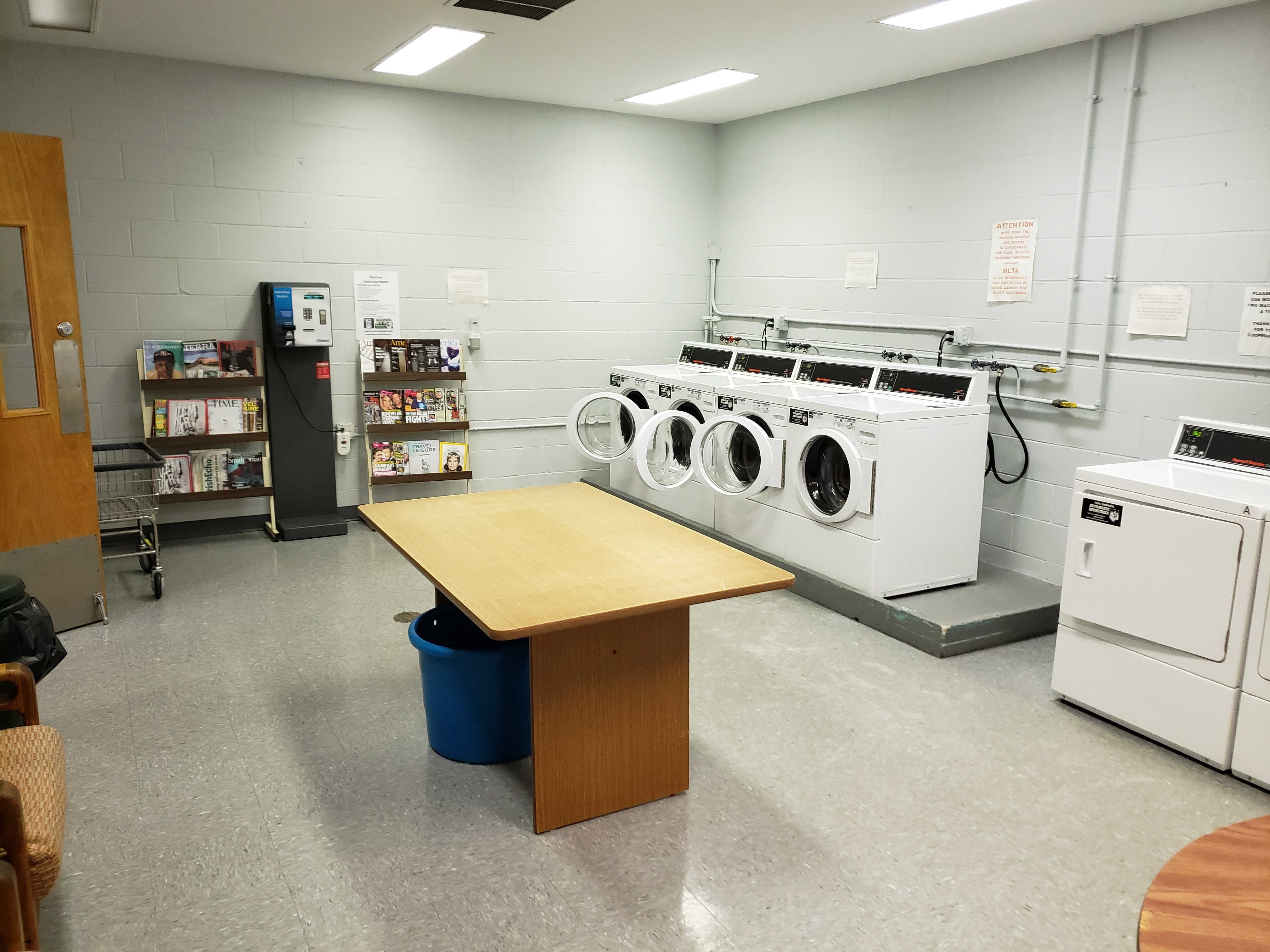 Laundry Room in Community Building