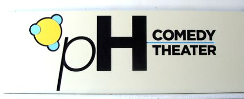 SA28027 - Carved High Density Urethane (HDU) Sign for Comedy Theatre