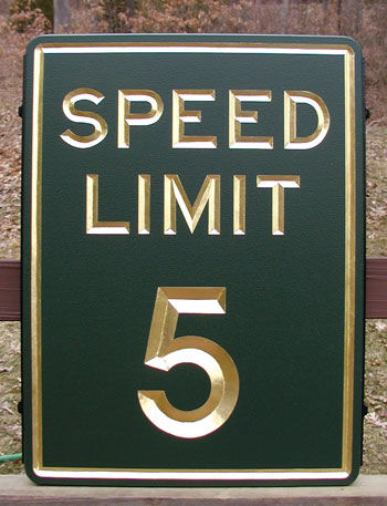 H17246 - Speed Limit Sign (Raised Text)