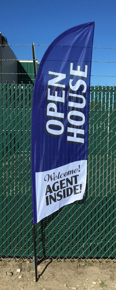 8ft Open House Flag