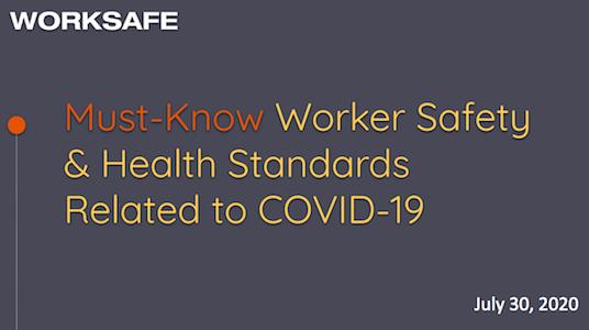 这工人的安全 & 与新型冠状病毒肺炎相关的卫生标准