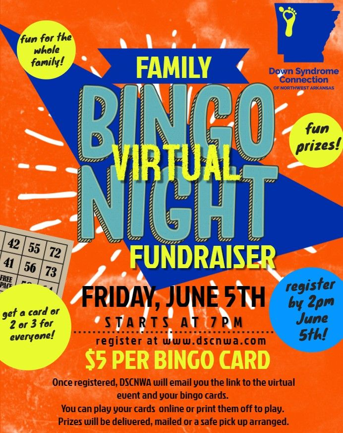 DSCNWA Virtual Family Bingo Night Fundraiser