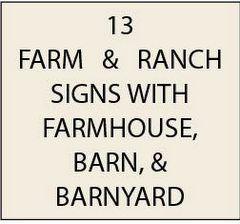 O24800 - Ranch and Farm Signs, with Farmhouse, Barn, and Barnyard