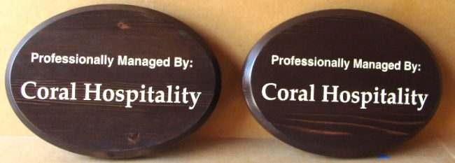 T29423 -   Carved Cedar Hospitality Signs for Hotel