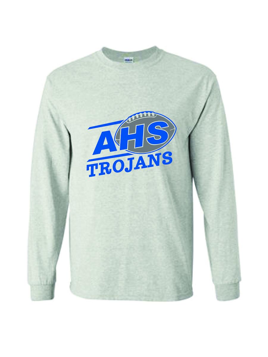 Auburn Football Long Sleeve (Ash Gray)