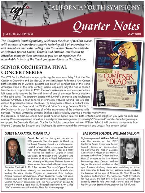 May 2018 Quarter Notes