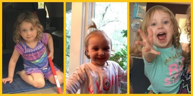 Three images of Katharine's Niece