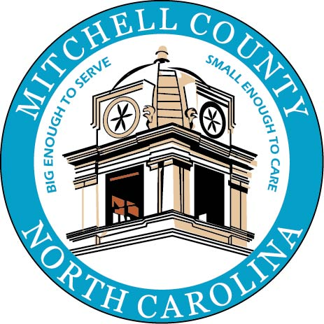 CP-1315 - Carved Plaque of the Seal of Mitchell County, North Carolina,   Artist Painted
