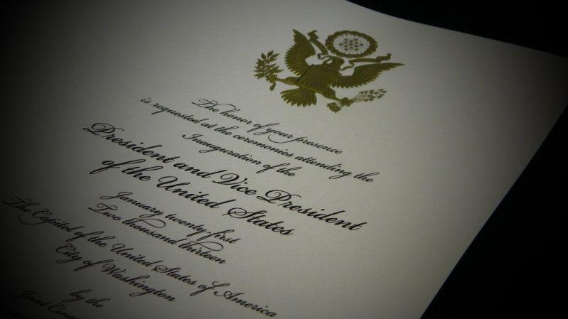 2013 Presidential Inauguration Invites