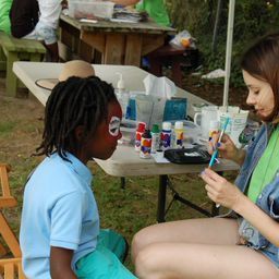 Facepainting at the festival
