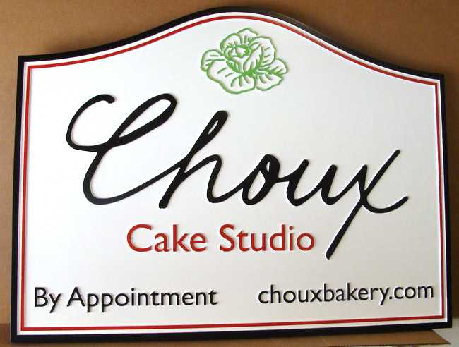 "Q25606 - Sign for a Cake Studio or Bakery, Serving the Round French Pastry, ""Choux."""