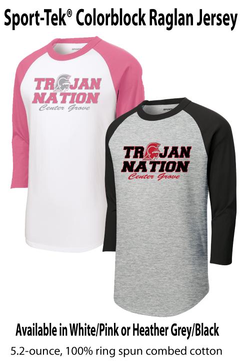 Trojan Nation - Raglan Jersey