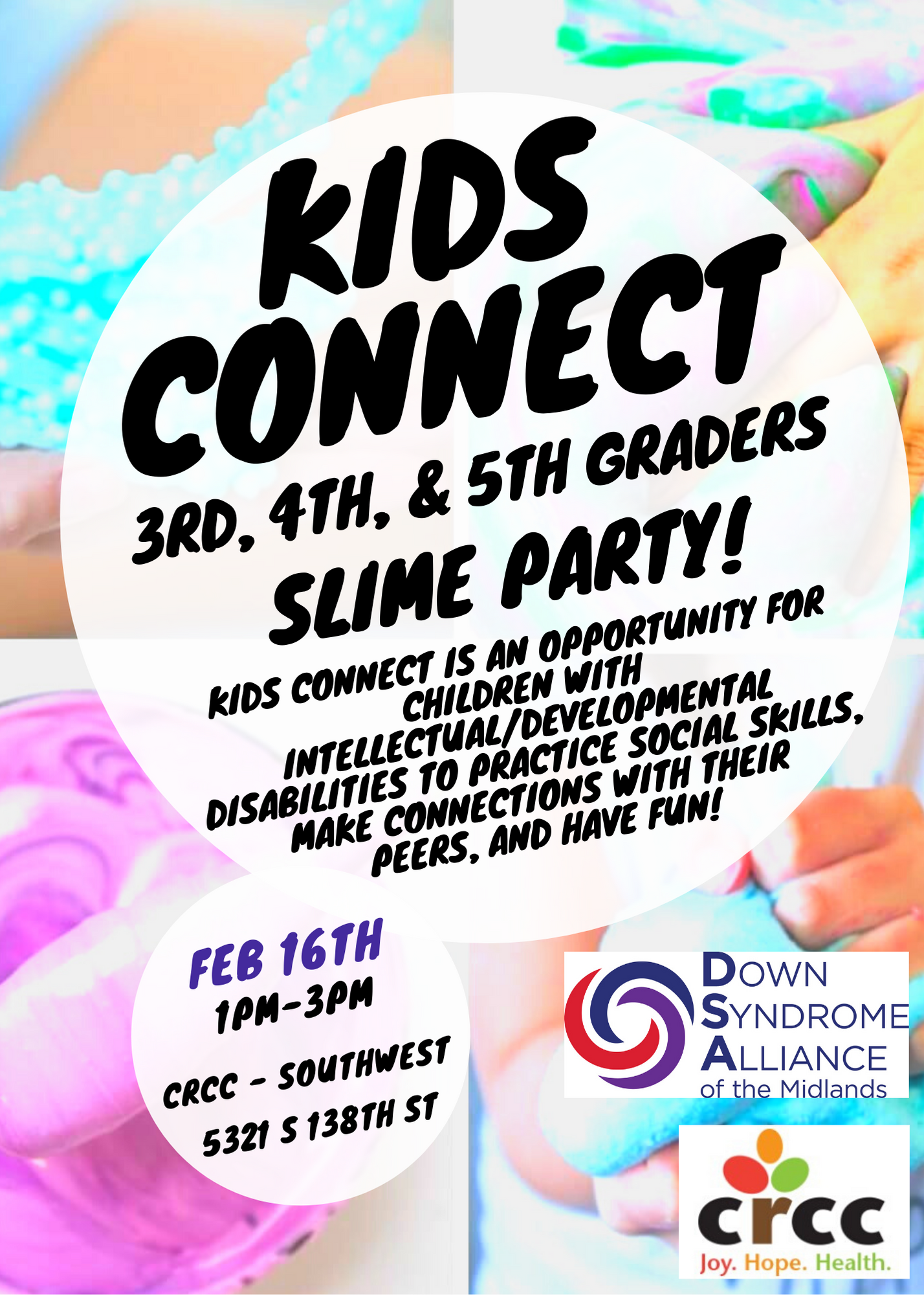 Kids Connect Slime Party! 3rd, 4th, and 5th grade