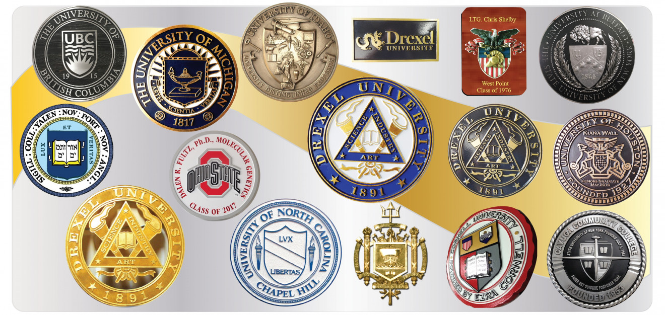 1 This Picture Shows Some Of The Diffe Styles Our Dimensional Wall Plaques For Universities And Colleges Featuring Seals Emblems Logos