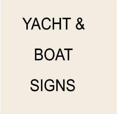 Yacht and Ship Name & Hailport Plaques