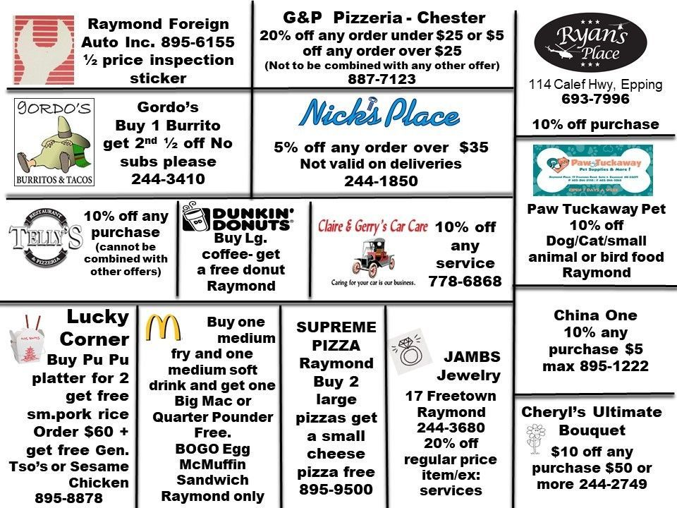 2021 Discount Card Back