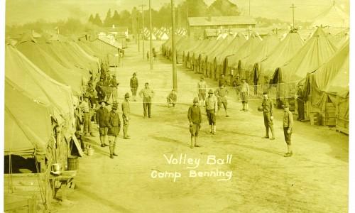 Volley Ball at Camp Benning postcard