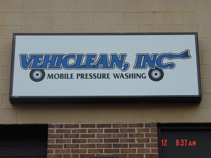 Vehiclean Storefront Sign