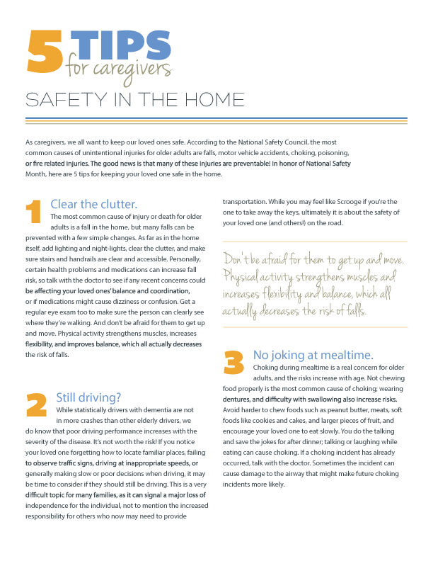 5 Tips for Safety in the Home