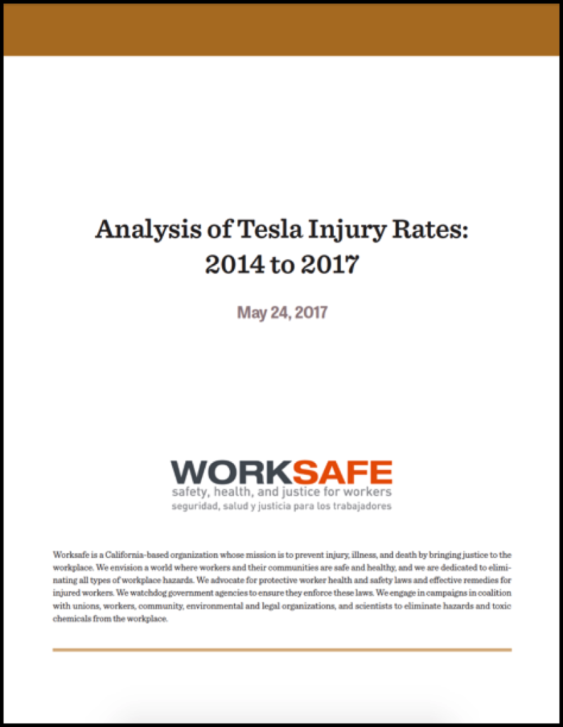 New Worksafe Report Scrutinizes Tesla's Health and Safety Record