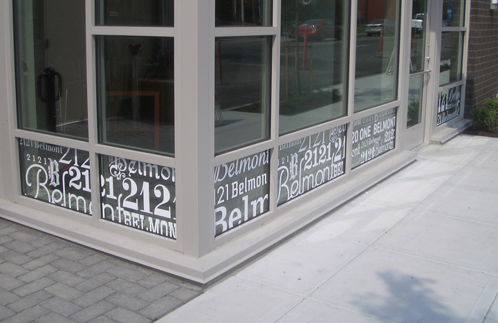 2121 Belmont Window Graphics