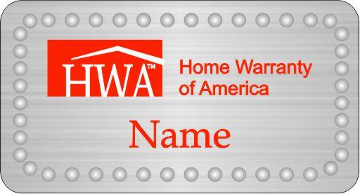 HWA Silver Rectangle / Clear Rhinestones