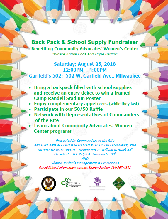 Back Pack & School Supply Fundraiser